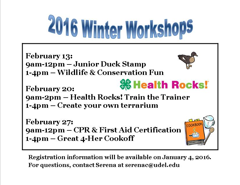 Winter Workshops 2016