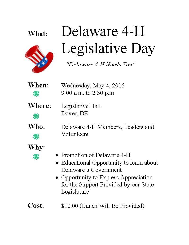 Legislative Day Flyer 2016