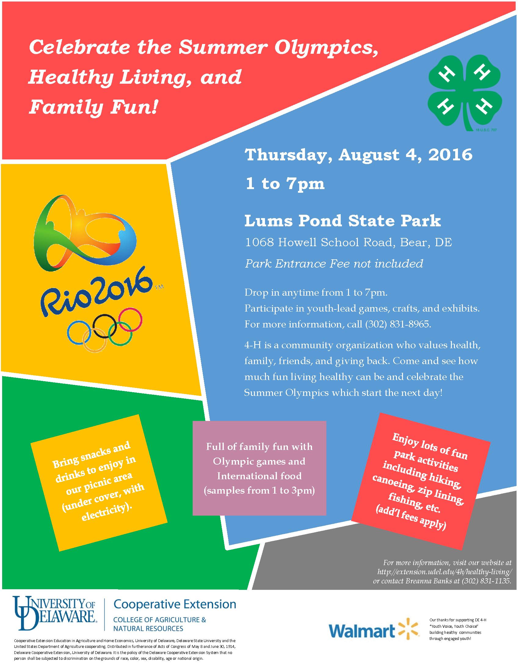 Summer Olympics Flyer