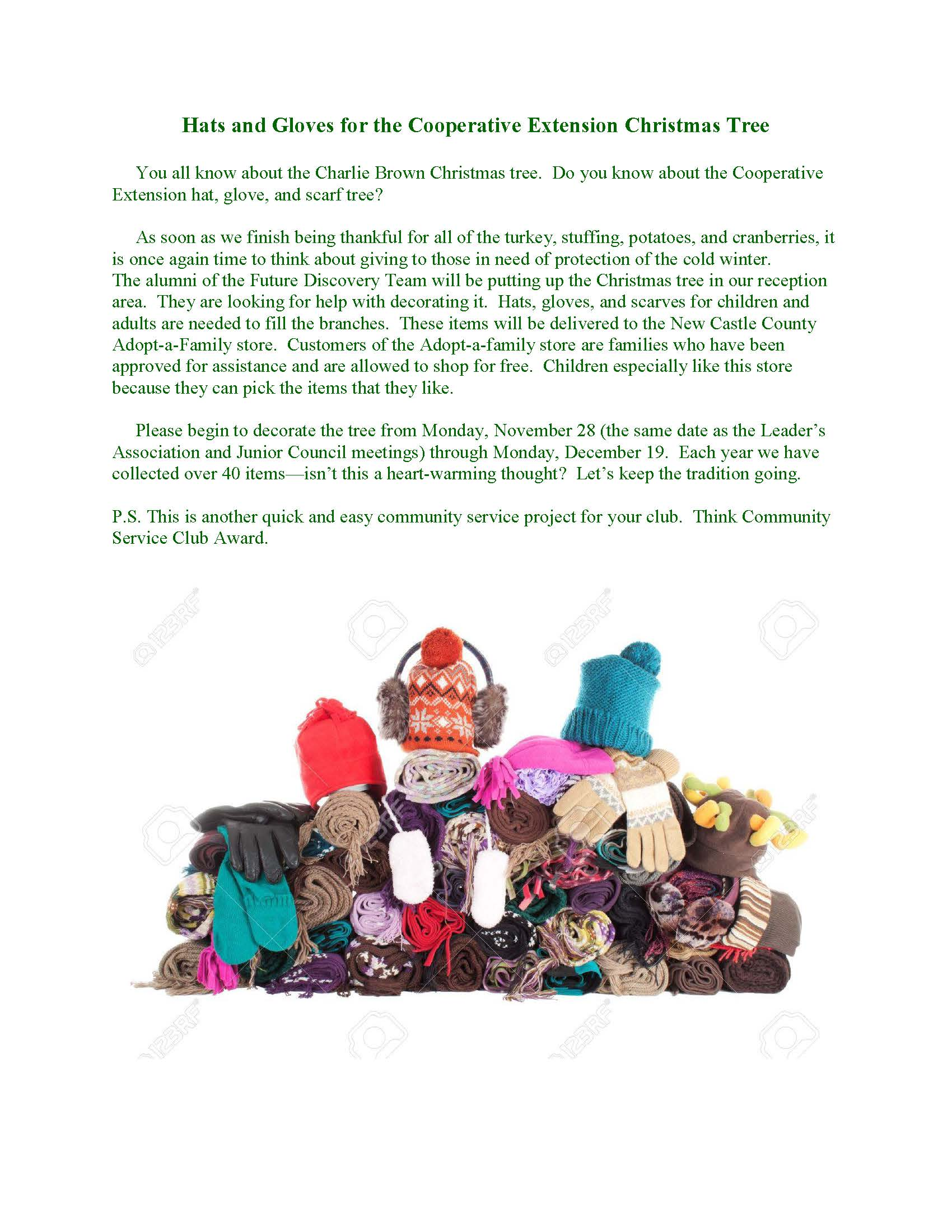 hats-and-gloves-for-the-cooperative-extension-christmas-tree