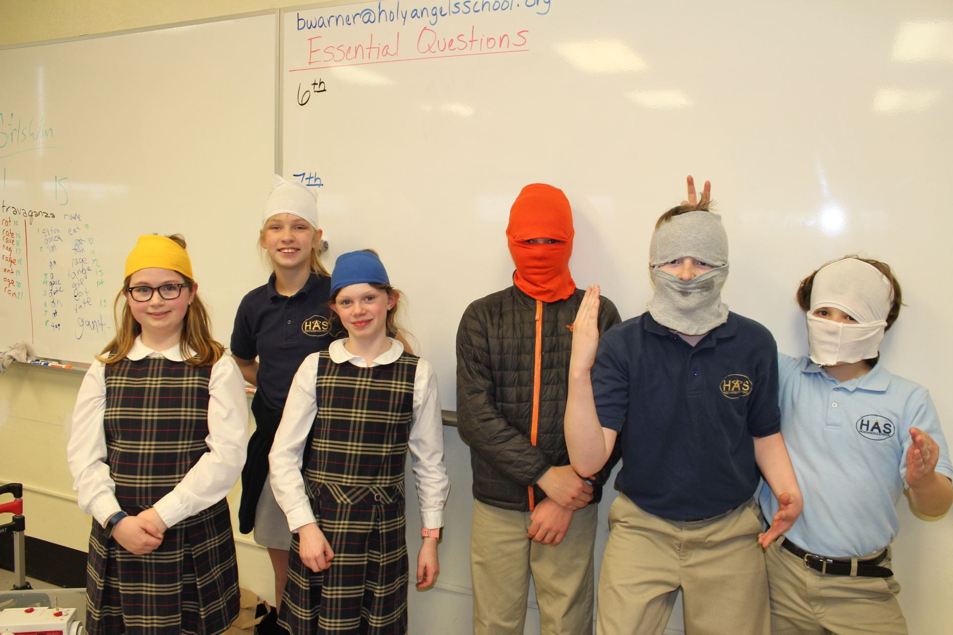 NCC Holy Angels 4H club headbands & face masks from t-shirts