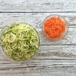 zoodles - zucchini and carrot