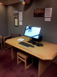 Senator Kaufman's electronic records are available to researchers on the Special Collections reading room workstation.