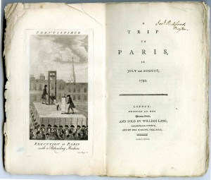 "Morris' personal copy of the first printing of ""A Trip to Paris."" The first printing is extremely scarce; this copy is of particular interest in that it has never been bound, and only has the simple sewing that it would have received prior to sale. Morris reprinted this book for a Bird & Bull Press edition."