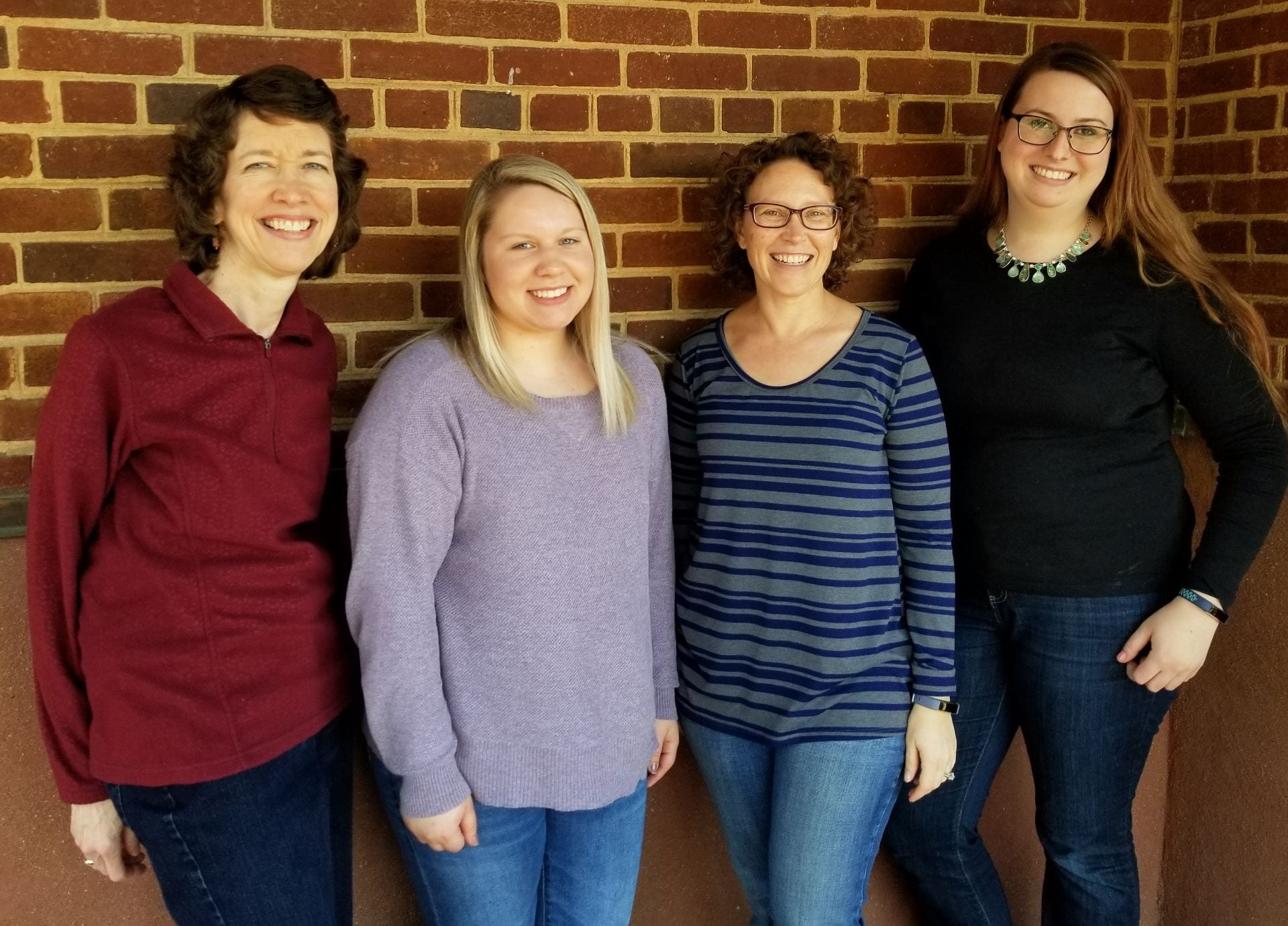 Pictured from left to right: graduate students Z. Qin, K. Clark, M. Savin; Dr. A. Shober; graduate student A. Soroka; and research associate M. Pautler. Not pictured: Dr. T. Sims, graduate student S. Riggi, and research technician S. Tingle.