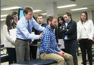 Manipulative medicine demonstration