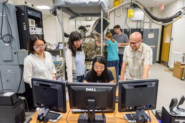 Materials science graduate students