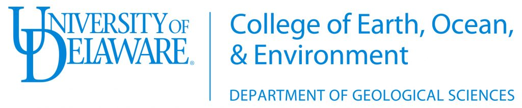 College of Earth, Ocean, and Environment Department of Geological Sciences logo
