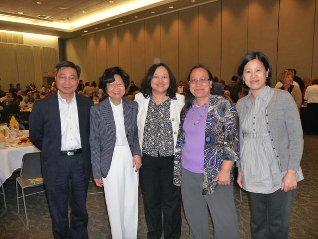 Service Luncheon April 4, 2012 Jinfa, Erlinda,Pia, Jeannie, & Wendy
