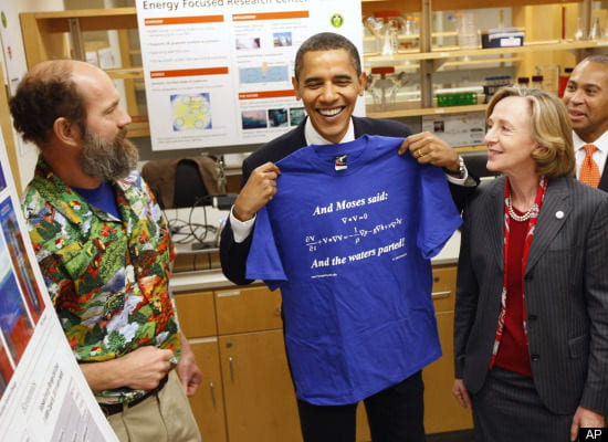 Obama models with the Navier-Stokes equations. Hooray!