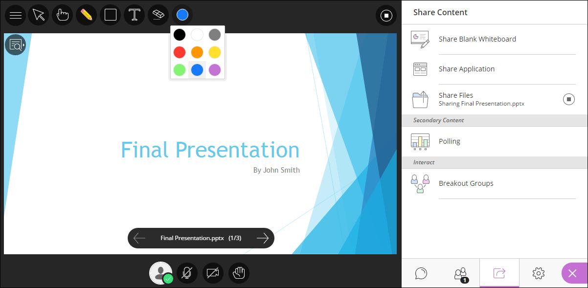 Blackboard Collaborate Ultra Screenshot