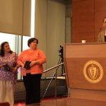 jenn viveiros, kiley medeiros, marva foster receiving awards