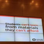slide - students can't learn from materials they can't afford