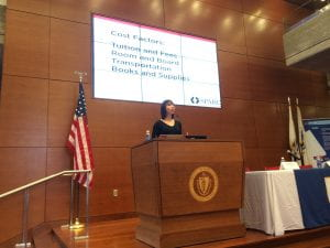 Nicole Allen presenting