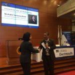 Nichalin Summerfield accepting an award