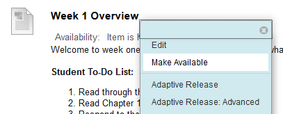 make available button