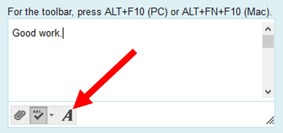 A button in feedback box