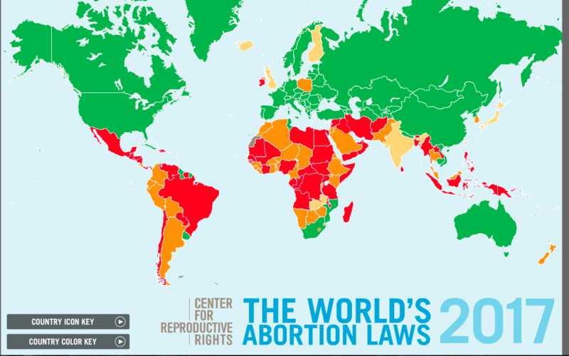 Abortion map