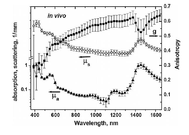 "E. Salomatina and A.N. Yaroslavsky. ""Evaluation of the in vivo and ex vivo optical properties in a mouse ear model,"" Phys. Med. Biol. 58, 2797 (2008)."