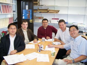 Meeting with three Ph.D. candidates in labor economics