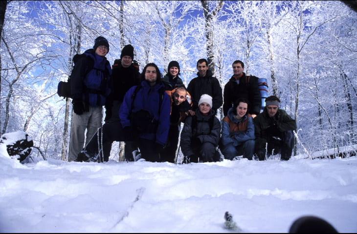 Hiking with my buddies, Great Smoky Mountains N.P., TN/NC, February 2004