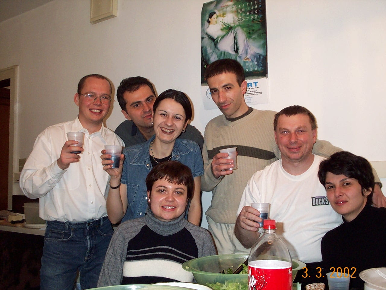 """With my Bulgarian friends at my """"Back to Milwaukee"""" Party"""