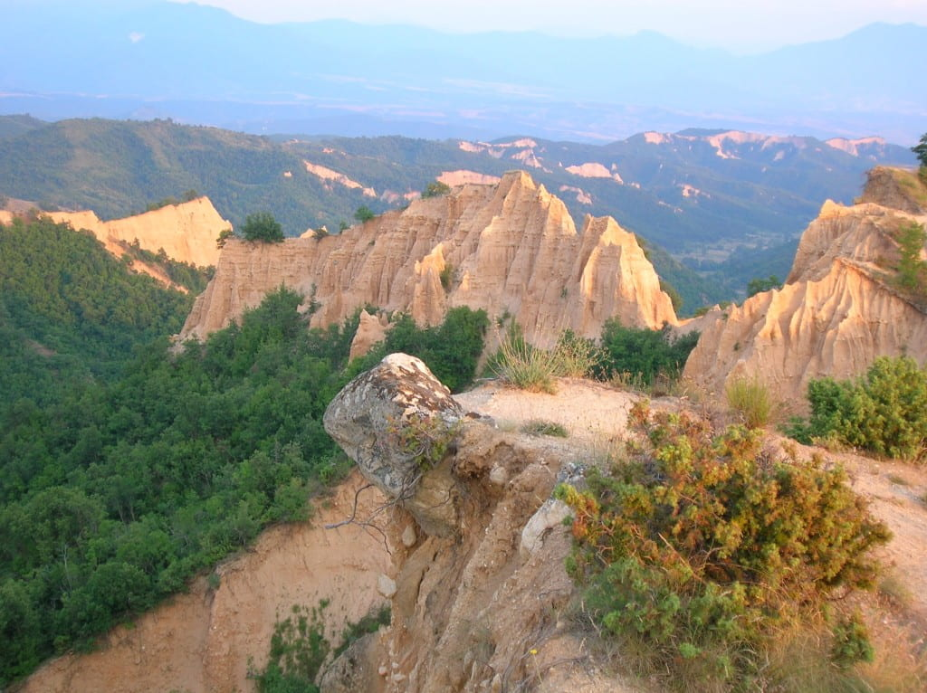 Sandstone formations between Rozhen monastery and Melnik, Bulgaria, July 2005