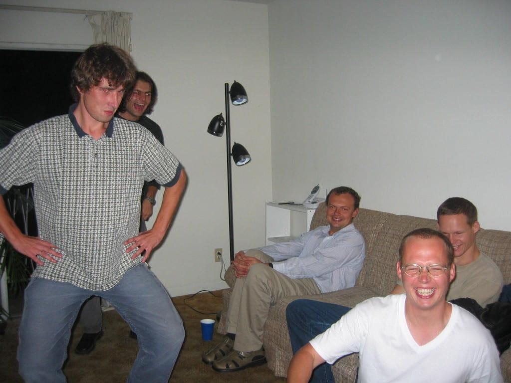 Dancing Kazachok with Dima, Nashville, October 2003