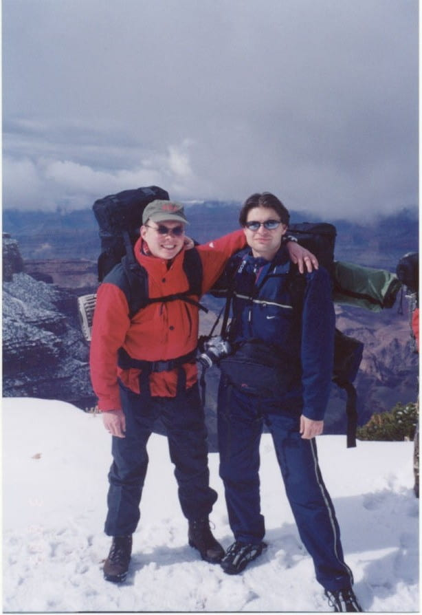 With Maxim, hiking in the Grand Canyon N.P., AZ; spring break 2003
