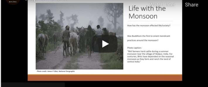 """Influence of the Monsoon Season on Buddhist Monasticism"""