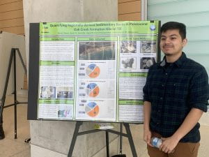 Rene Chavez presents his research at the UWM Department of Geosciences Research Symposium 2020