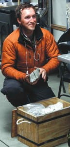 Erik Gulbranson, packing samples, CTAM, Antarctica