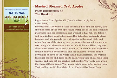 Mashed Steamed Crab Apples
