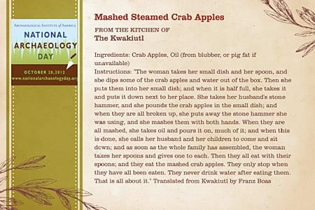 Mashed Steamed Crab Apples