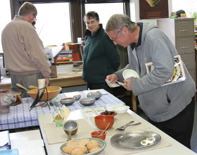 Sampling Roman and Celtic treats made by Bettina Arnold, UW-Milwaukee. Photo A. Rivera.