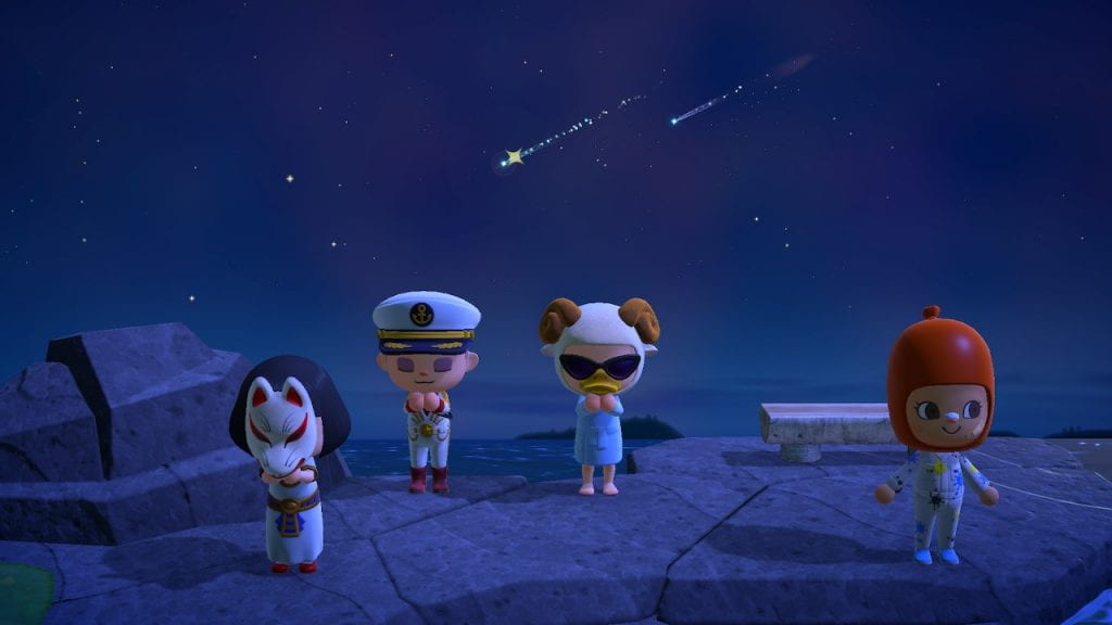 Friends and me wishing on stars