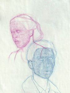 Cross Contour Study of Two Faces