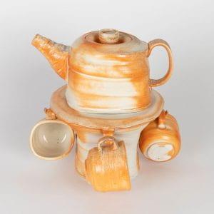 Teapot Set Woodfired Porcelain