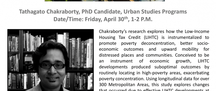 April 30, 2021  Urban Studies Colloquium Series – Method in Madness: Application of Mixed Methodology in a Dissertation