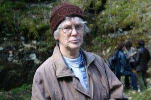 Linda Hints at Stop 6: Porkuni quarry, WOGOGOB-2004.