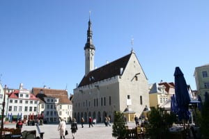 City square, Tallinn, Estonia