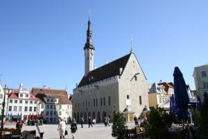 City square, Tallinn, Estonia