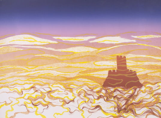 Castle Melting2008, lithograph, 22 x 30 inches