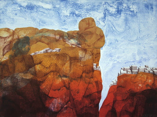 Rocks and Houses2008, lithograph, 22 x 30 inches