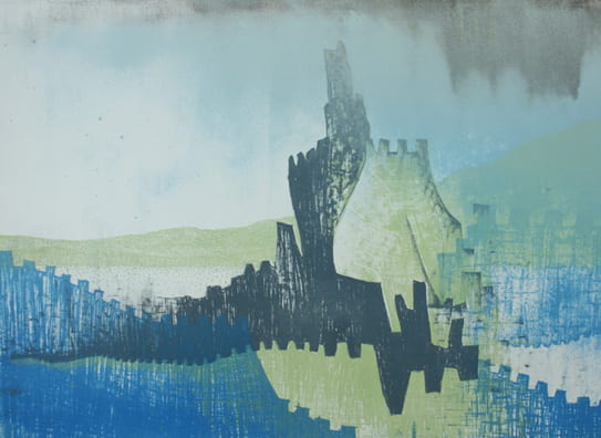 Tower Washing Away2008, lithograph, 22 x 30 inches