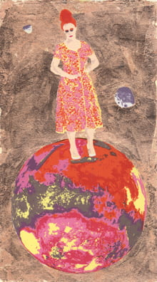 Beehive Mars2010, screenprint, copper leaf, 11 x 5.5 inches