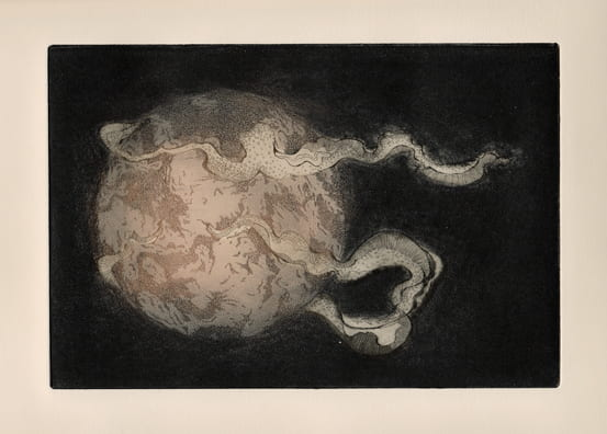 World2012, etching, aquatint, drypoint, 6 x 9 inches