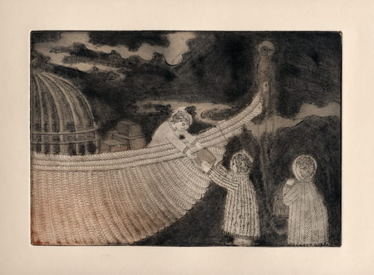 Supplies2012, etching, aquatint, drypoint, 6 x 9 inches