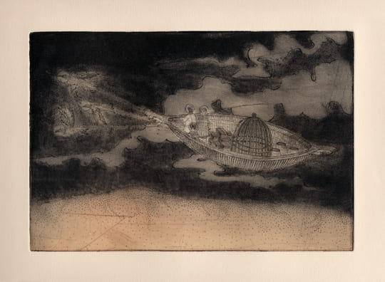 Take Off2012, etching, aquatint, drypoint, 6 x 9 inches