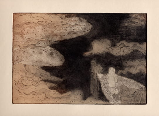 Destination2012, etching, aquatint, drypoint, 6 x 9 inches